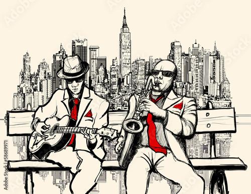 dos-hombres-de-jazz-tocando-en-nueva-york