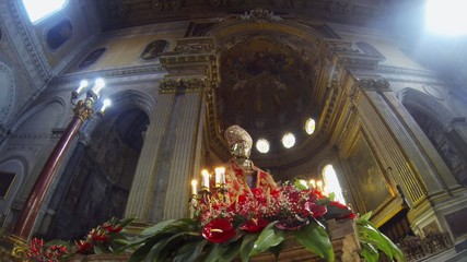 NAPLES, ITALY - CIRCA OCTOBER 2013: Dome of San Gennaro