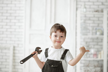 child with tool