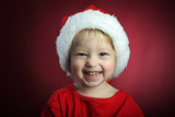 beauty boy in christmas hat