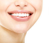 Fototapety Beautiful smile of young fresh woman with great healthy white te