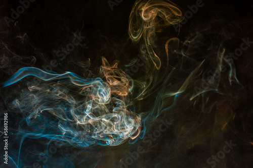 Fototapeta Multicolored smoke