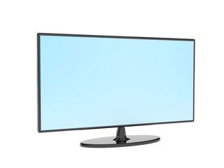 Black flat TV set