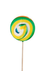 Colorful lollipop separated over white.