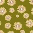 Beige Flowers (Seamless Pattern)