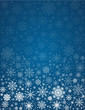 Vector frosty snowflakes background - 58694915
