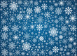 Vector frosty snowflakes background - 58694947