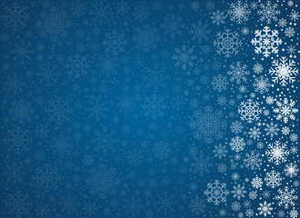 Vector frosty snowflakes background