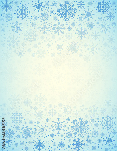 Vector frosty snowflakes background - 58694979