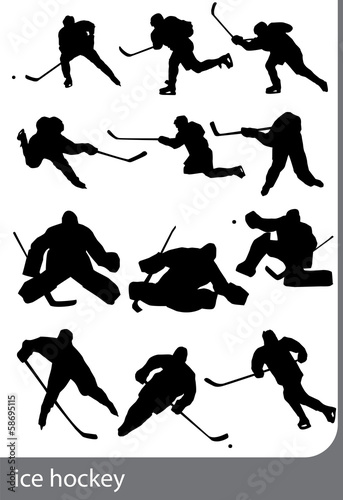 Ice hockey, vector