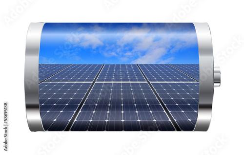 Solar Panel Battery - 58695138
