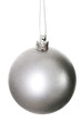 One silver christmas ball. - 58695585