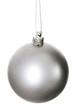 One silver christmas ball. - 58695585
