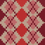 Knitted seamless pattern with rhombus