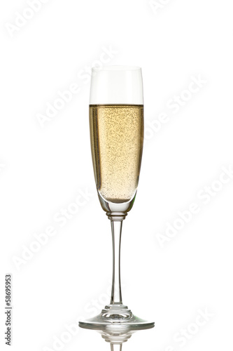 Champagne glasses isolated on white