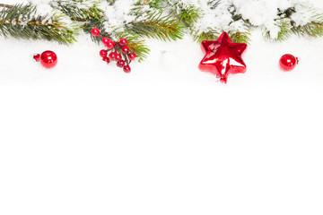 Weihnachtsdekoration mit Freiraum