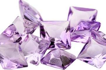 Amethyst princess cut