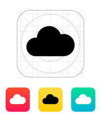 Cloud weather icon.