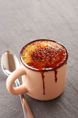 Creme brulee in a cup