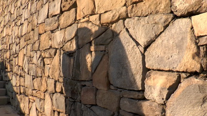 Shadow of a kissing couple
