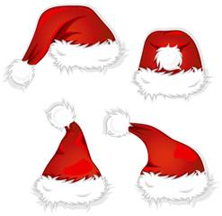 4 verschiedene Weihnachtsmützen