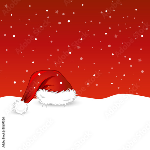 Christmas Background with hat