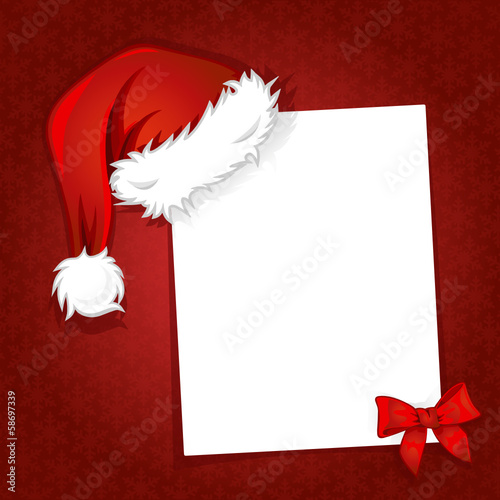 Weihnachtsmütze und Schleife