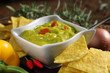 canvas print picture guacamole with tortillas dish