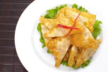 Oriental deep fried wontons