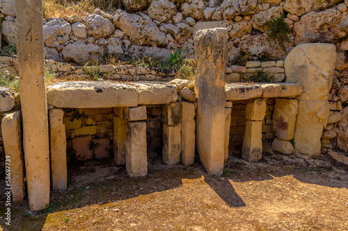 Rests of Ggantija temple in the island of Gozo, Malta