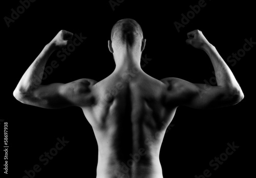 Man Flexing Arms