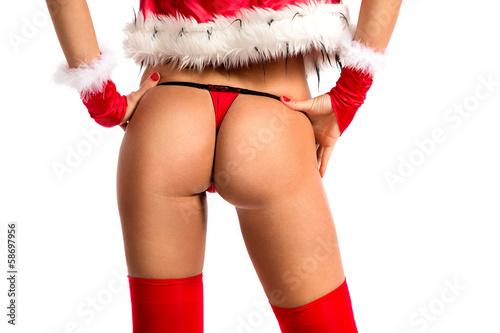 Sexy Santa's buttocks