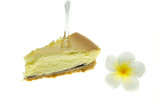 Cheesecake with frangipani