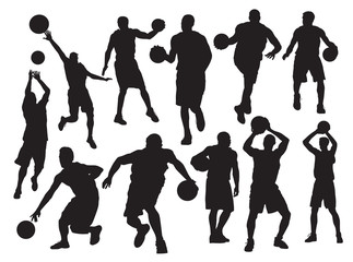 vector Basketball players silhouette