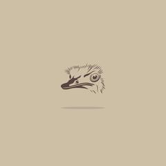Ostrich bird sign
