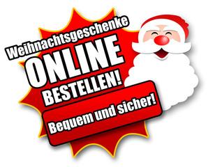 """Siegel """"Weihnachtsgeschenke online bestellen!"""""""