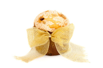 Panettone Decorated With Golden Bow