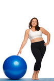 Fat woman with ball