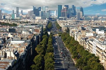 View of La Defence in Paris