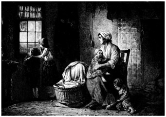 Poor Family, poor Home - 19th century
