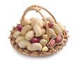 Peanuts in basket