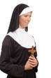 Nonne mit Kreuz