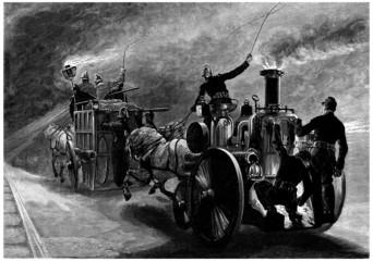 Fire Men - Fire Cars - 19th century