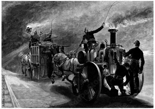 Fire Men - Fire Cars - 19th century