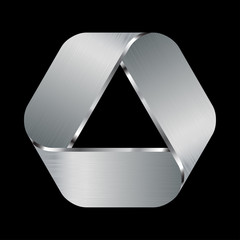 metallic logo for the company