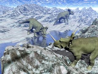 Styracosaurus near water- 3D render
