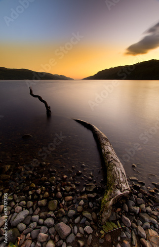 Loch Ness sunrise Highlands Scotland