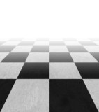 Checkered background floor pattern in perspective