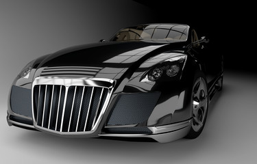 Futuristischer kraftvoller Wagen