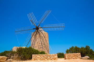 Formentera Windmill wind mill vintage masonry and wood